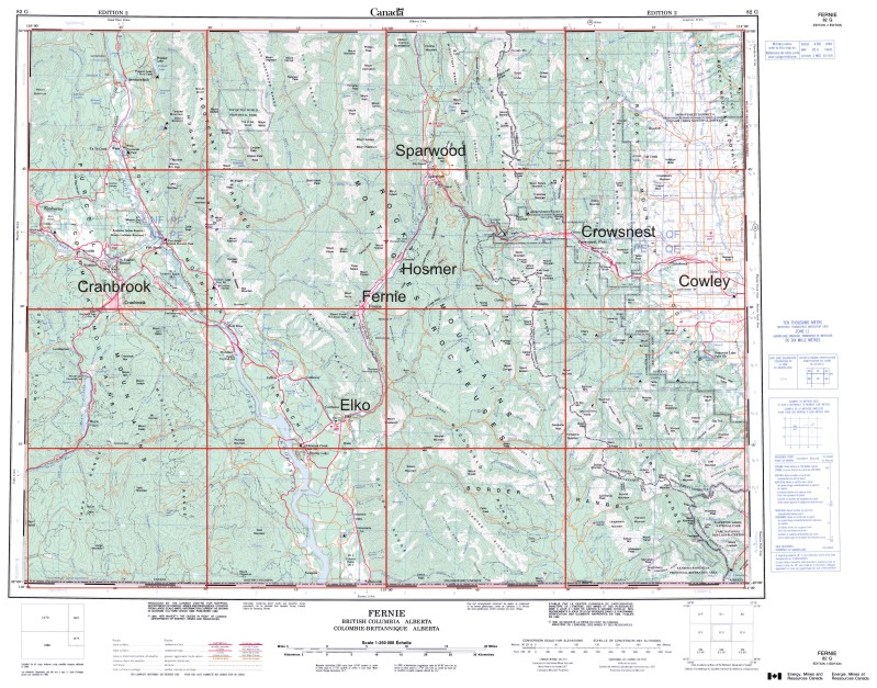 Fernie Area Maps